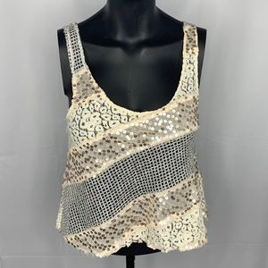 Free People sequined top!